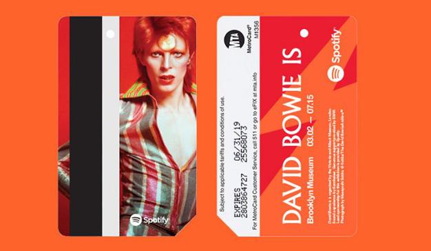 Spotify homenajea la figura de David Bowie en una estación de metro neoyorquina