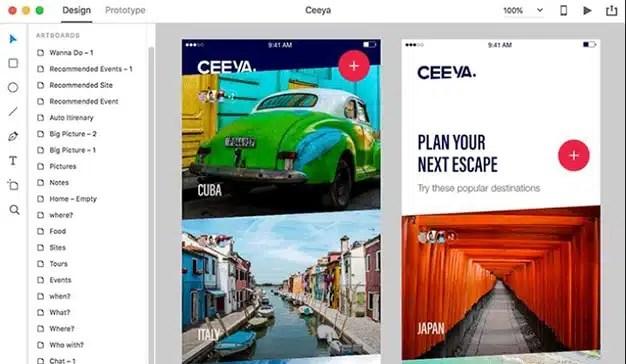 Adobe XD Starter Plan, la nueva aplicación de diseño de Adobe