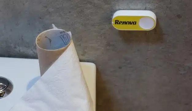 No se quede sin papel higiénico: el Amazon Dash Button de Renova ya está aquí.