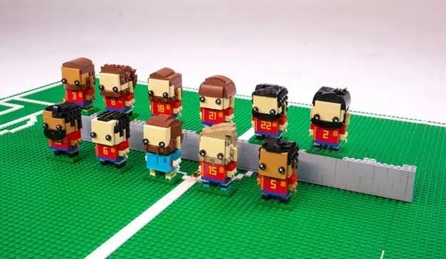 LEGO muestra su apoyo a la Selección Española recreando al equipo con sus famosos ladrillos