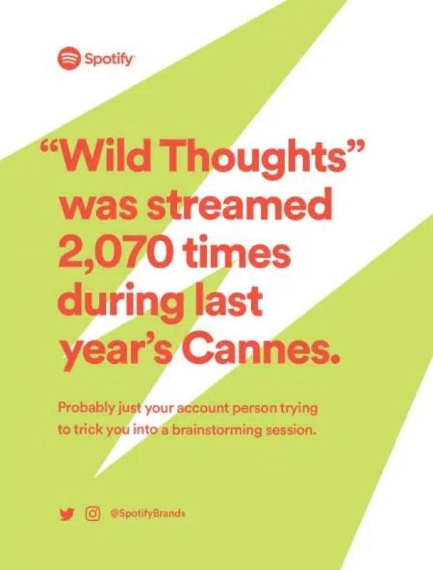Spotify da una lección de creatividad data driven a los publicitarios en Cannes Lions 2018