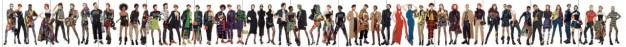 54 personas en una sola imagen: así es el anuncio más largo del mundo (según Versace)