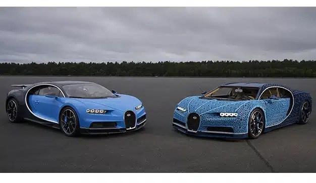 Bugatti Chiron fue construido con Legos