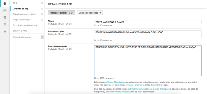 Tutorial Publicar Android 3