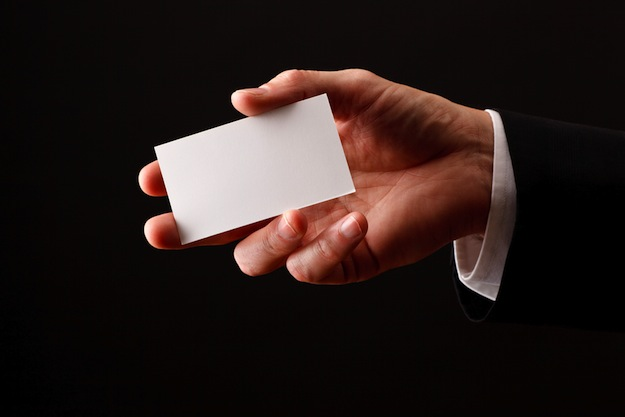 blank business card business naming