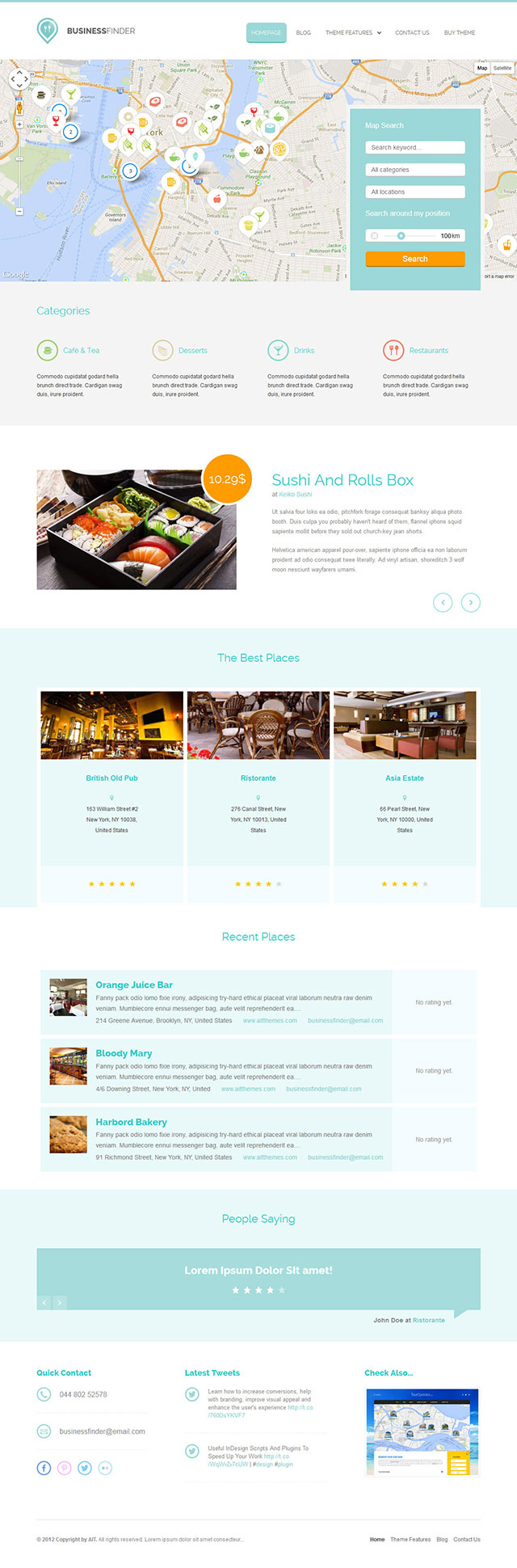 Business Finder Directory Theme for WordPress free download