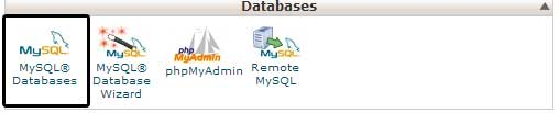 my sql icon in cpanel