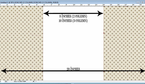 Dimensions of blogger background