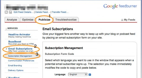 Export Your FeedBurner Email Subscriber List