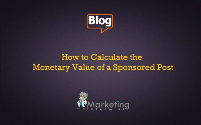 Sponsored Blog Post