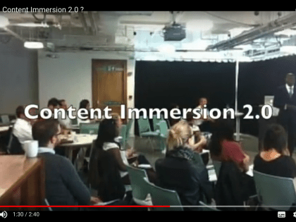 What is Content Immersion 2.0 ?