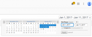 Google Analytics Date Change