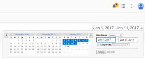 Google Analytics Date Change