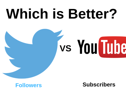 Which is Better? Twitter Followers or YouTube Subscribers?