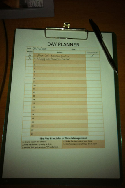Free Printable Day Planner Template