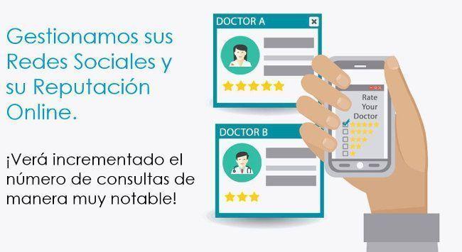 Gestión reputacion online y redes sociales sector médico