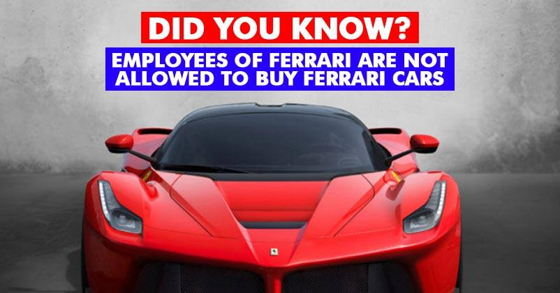 Well, Ferrari Describes It Better. Imagine You Work For Ferrari And All You  Wait For Is Workeru0027s Discount But Instead, You Are Banned From Buying ...