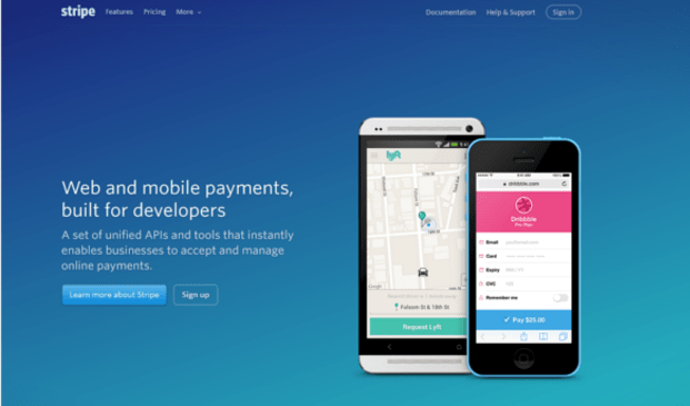 1 stripe home page