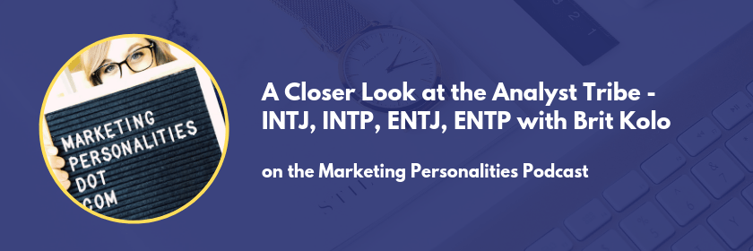 The analyst tribe of marketing personality types INTJ INTP ENTJ ENTP