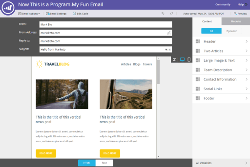 Marketo Email Editor And Templates Marketing Rockstar Guides - Marketo landing page templates