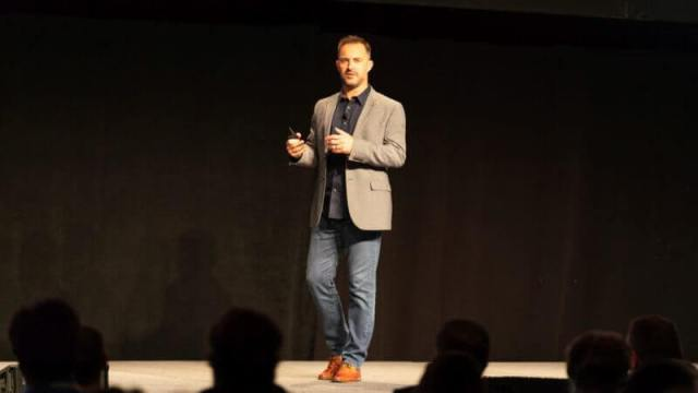 Alistair Croll talking at Martech Conference East 2018.