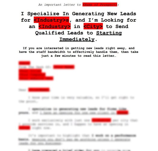 simple local lead generation system