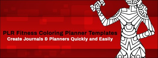 Fitness Coloring Planner Templates PLR