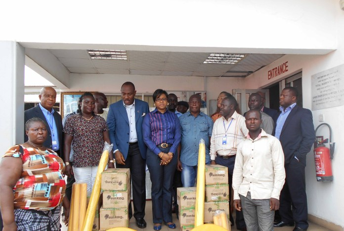 Total Nigeria Plc Management with beneficiaries of its newly launched AWANGO RESELLERS SME PROGRAM