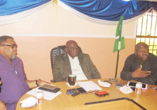 Femi Ogala, General Secretary, Babatunde Adedoyin, President and Emmanuel Ajufo, Vice President of OAAN