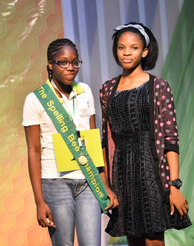 Ruth Ejims and the 2015 winner Oyinye Ohuabunwa of Cherryfield College, Abuja.