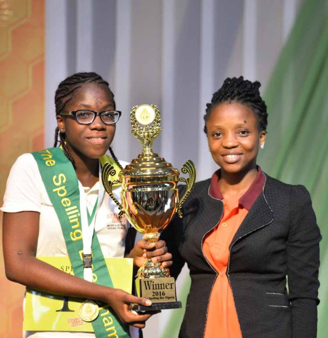 Ruth Ejims of Shalom College, Portharcourt and her Teacher Mercy Ugherughe