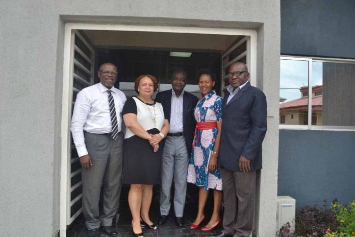 From left: John Ehiguese, President, Public Relations Consultants Association of Nigeria (PRCAN); Linda Magapatona-Sangaret, Chief Marketing Officer of Brand South Africa; Tope Ogbeni-Awe of TopComm PR; Sindiswa Mququ, General Manager for Africa and Middle East, Brand South Africa; and Muyiwa Akintunde, Vice President PRCAN, during the courtesy visit to PRCAN by Brand South Africa