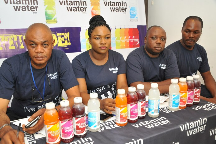 L – R: Mr. Eke Leonard, Regional Sales Manager South-South/ East, Mrs. Bose Ogunyemi, Marketing Manager, Mr. Emmanuel Akpah, Regional Sales Manager Lagos/South-West and Maurice Ibie, Brand Activation Manager, all of Giant Beverages Limited at the event