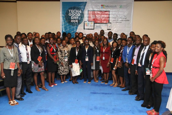 Cross section of attendees at the Microsoft Nigeria Tech4Good event held today at the Sheraton Hotels, Ikeja, Lagos