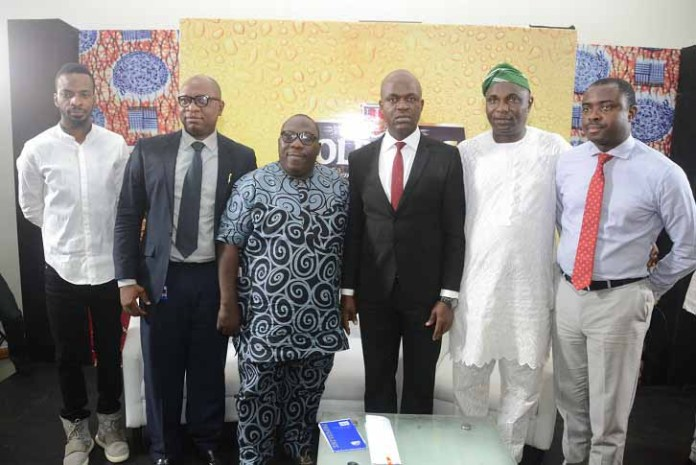 (L-R) Abolore Adigun (9ice), a popular Hip Hop musician; Patrick Olowokere, Corporate Communications/Brand PR Manager, Nigerian Breweries Plc; Olawale Obadeyi, a notable Fuji analyst and Poet; Emmanuel Agu, Portfolio Manager, Mainstream Lager & Stout Brands; Nigerian Breweries Plc; Sikiru Ayinde Agboola (a.k.a SK Sensation), Chairman, National Project Committee of the Fuji Musicians Association of Nigeria; and Funso Ayeni, Senior Brand Manager, Mainstream Lager, NB;  at the maiden Fuji Roundtable, powered by Goldberg Lager Beer, an event held at the headquarters of NB in Lagos on Monday