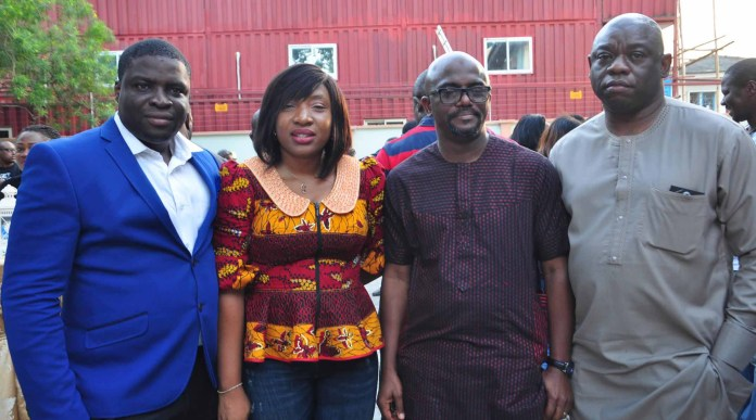 L-R: Jesufemi Ololode, Brand Manager, Three Crowns Milk, Maureen Ifada, Senior Brand Manager, Three Crowns Milk; Lanre Adisa, Managing Director, Noahs Ark Communications and Kola Abiola, Chairman, Noahs Ark Communication during the Open House Party held at the company's new office in GRA, Ikeja recently.