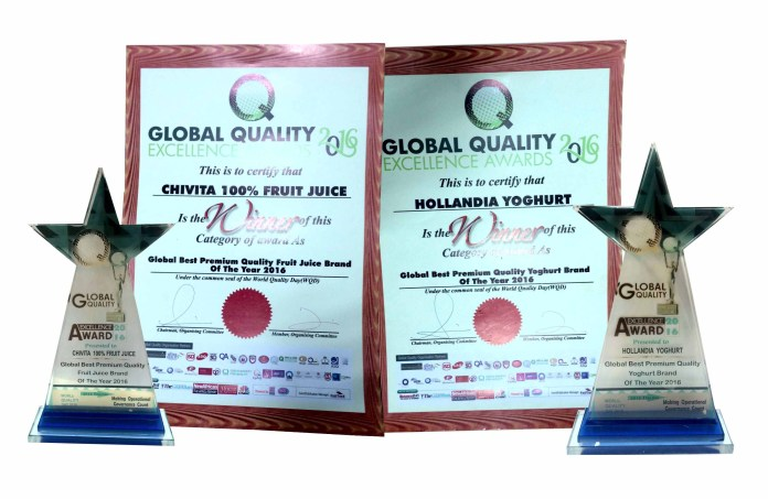 Chi Limited Grabs Two Trophies At Global Quality Excellence Awards 2016-marketingspace.com.ng