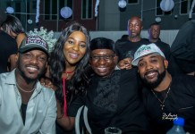 2Face, Ufuoma Ilesanmi, Tayo Sonuga and Banky W sharing the thrill-marketingspace.com.ng