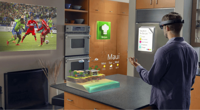 Microsoft's Hololens turns the whole world into a user interface