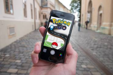 A first person POV of playing Pokémon Go