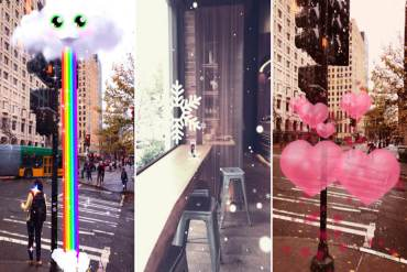 Snapchat can augment your average world surroundings into something a bit more interesting