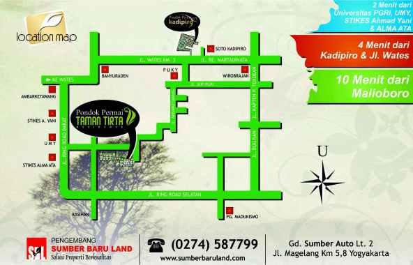 location map pondok permai taman tirta