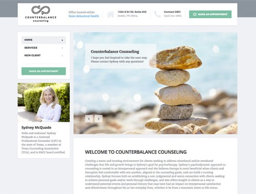 Counter Balance Counseling and Trio Marketing Website Design