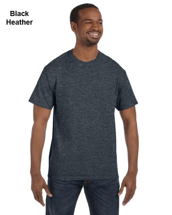 Jerzees Adult 5.6 oz. DRI-POWER ACTIVE T-Shirt Black Heather