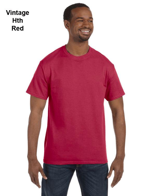 Jerzees Adult 5.6 oz. DRI-POWER ACTIVE T-Shirt Vintage Heather Red