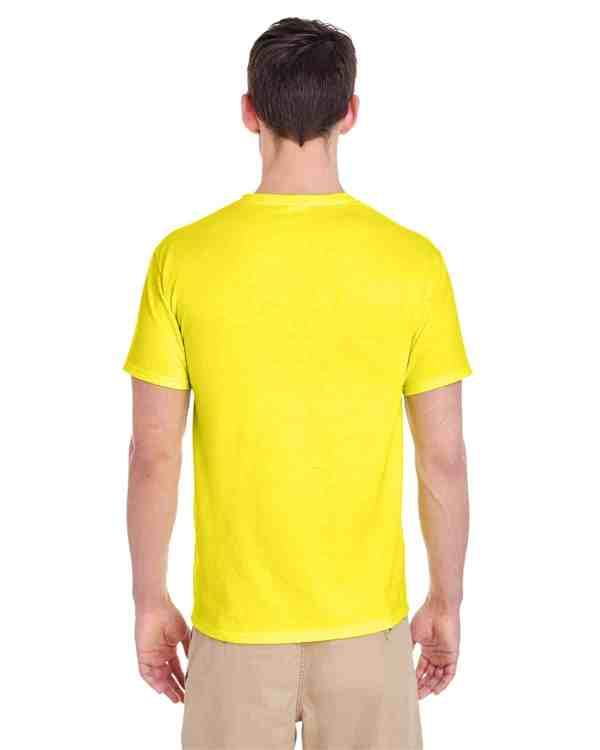 Jerzees Adult 5.6 oz. DRI-POWER ACTIVE T-Shirt Neon Yellow Back