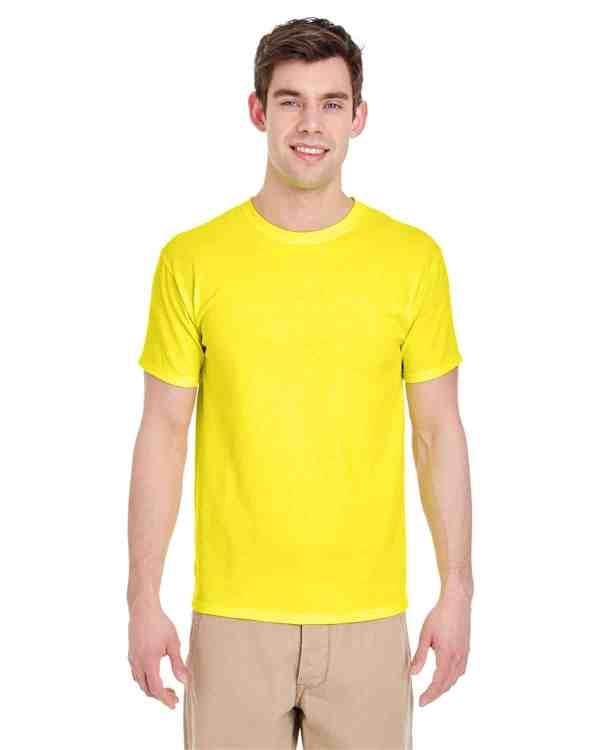Jerzees Adult 5.6 oz. DRI-POWER ACTIVE T-Shirt Neon Yellow Front