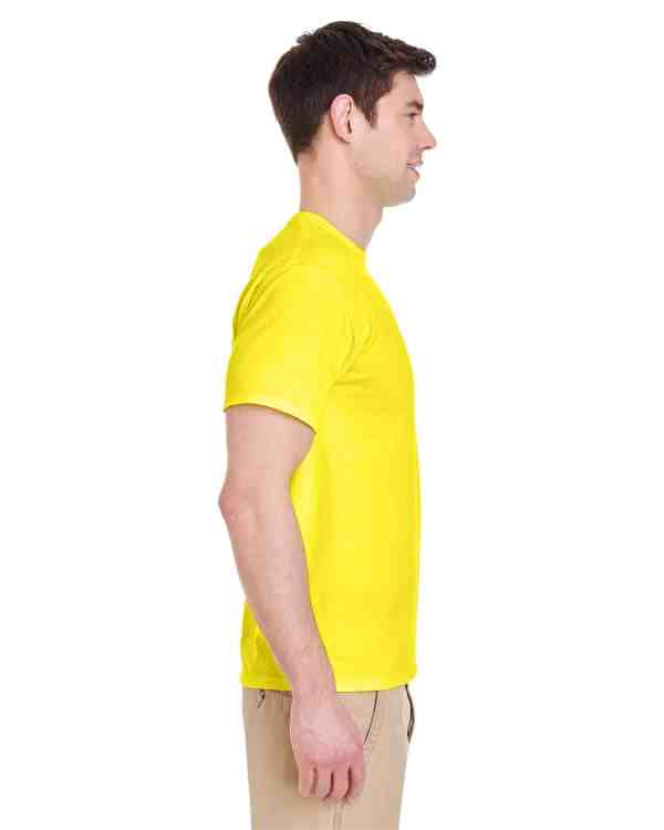 Jerzees Adult 5.6 oz. DRI-POWER ACTIVE T-Shirt Neon Yellow Side