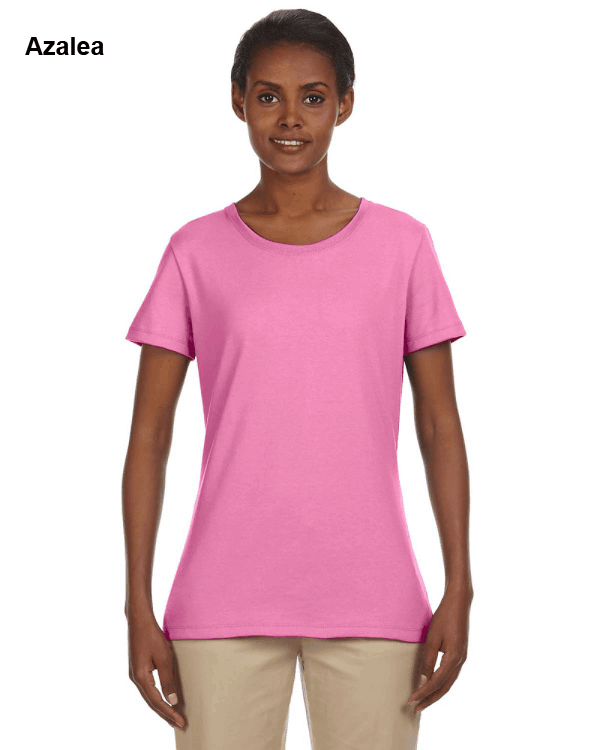 Jerzees Ladies 5.6 oz. DRI-POWER ACTIVE T-Shirt Azalea