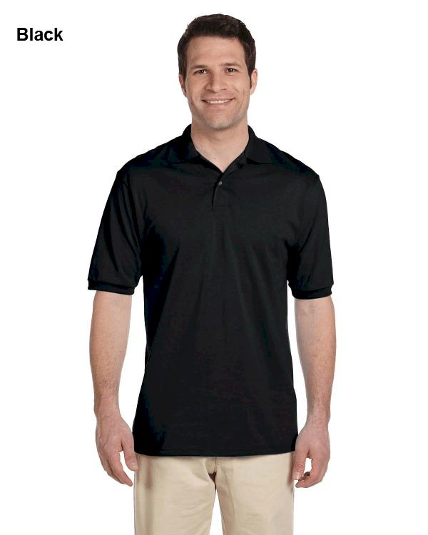 Jerzees Adult 5.6 oz. SpotShield Jersey Polo Shirt Black